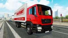 Une collection de camion de transport pour le tr