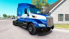 Peau Bleu Lion de Transport sur les camions Pete