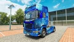 La peau de l'Eau sur tracteur Scania