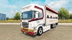 De la peau A. A. van ES pour tracteur Scania Tan