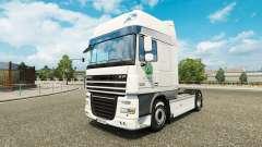 La peau Woolworths pour les camions DAF, Scania