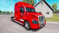 La peau sur le Chevalier de camion Freightliner