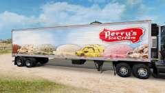 Haut Perry Ice-Cream auf den Anhänger-der Kühlsc