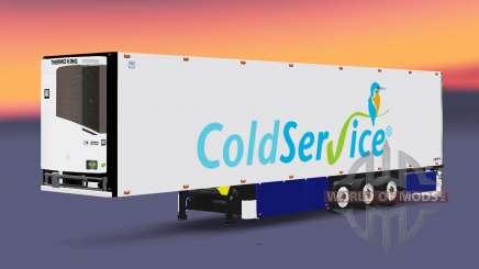 Semitrailer refrigerator Schmitz Coldservice pour Euro Truck Simulator 2