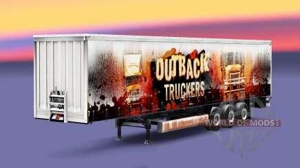 Outback Truckers Haut auf dem Anhänger für Euro Truck Simulator 2