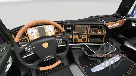 Die Dunkle Linie Exklusives Interieur v2.0 für Scania für Euro Truck Simulator 2