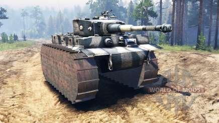 Panzerkampfwagen VI Tiger für Spin Tires
