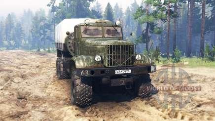 KRAZ-214 für Spin Tires