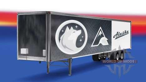 Haut Alaska-Huskies, die auf dem Anhänger für American Truck Simulator