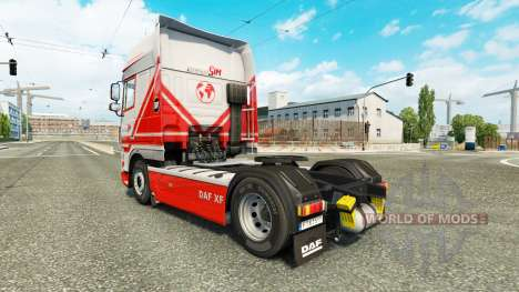 TruckSim de la peau pour DAF camion pour Euro Truck Simulator 2