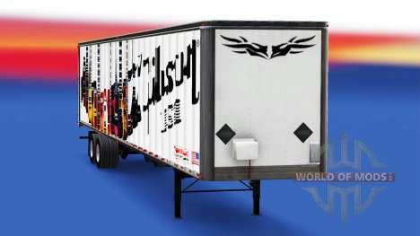 Haut Gibson-Gitarren auf den trailer für American Truck Simulator
