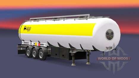 La peau Agip carburant semi-remorque pour Euro Truck Simulator 2