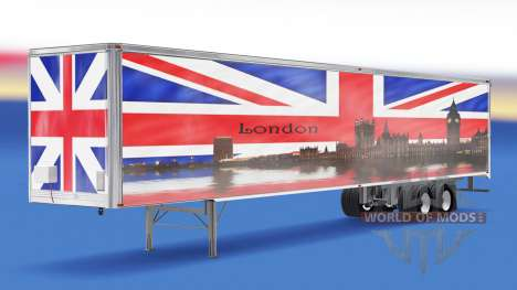 Haut-London v1.2 auf den Anhänger für American Truck Simulator