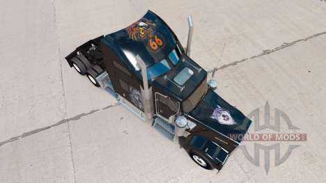 Haut Redskin-v1.2 auf der LKW-Kenworth W900 für American Truck Simulator