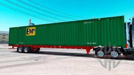 Semi-remorque conteneur EMP pour American Truck Simulator