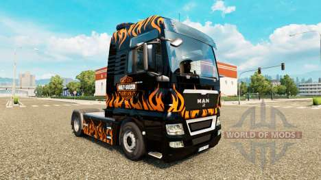 La peau Harley-Davidson sur le camion de l'HOMME pour Euro Truck Simulator 2