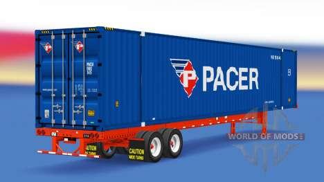 Auflieger container-Schrittmacher für American Truck Simulator