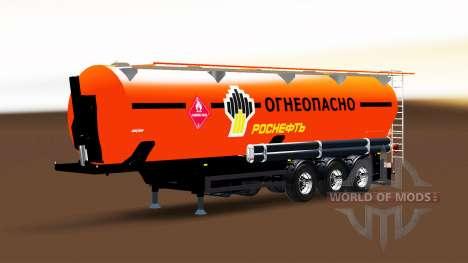 Kraftstoff-tank-Sattelauflieger mit Rosneft für Euro Truck Simulator 2