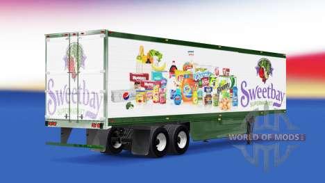 La peau Sweetbay Supermarket sur la remorque pour American Truck Simulator