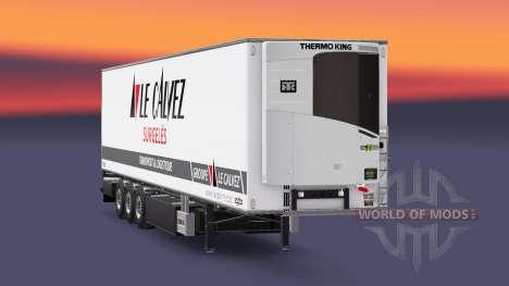 Semi-remorque frigo Chereau Le Calvez pour Euro Truck Simulator 2
