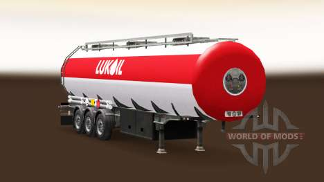 La peau Lukoil carburant semi-remorque pour Euro Truck Simulator 2