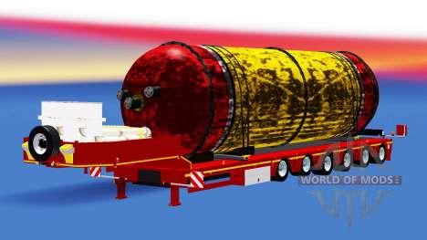 Faible balayage avec un réservoir de cargaison pour American Truck Simulator