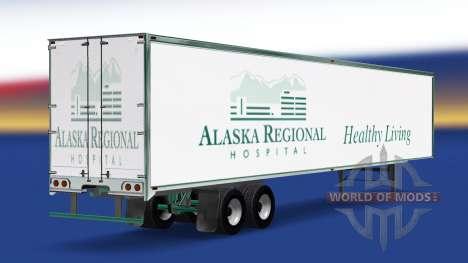 Haut Alaska Regional Hospital auf dem Anhänger für American Truck Simulator