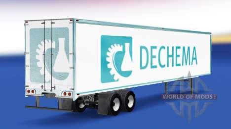 La peau Dechema sur la remorque pour American Truck Simulator