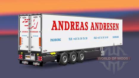 Semi-remorque frigo Chereau Andreas Andresen pour Euro Truck Simulator 2