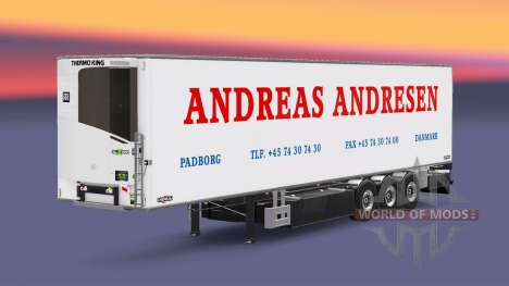 Semi-trailer-Kühlschrank Chereau Andreas Andrese für Euro Truck Simulator 2
