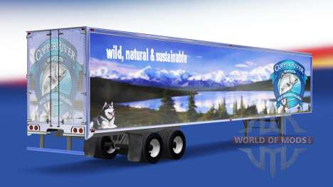 Haut Copper River Seafoods auf den trailer für American Truck Simulator