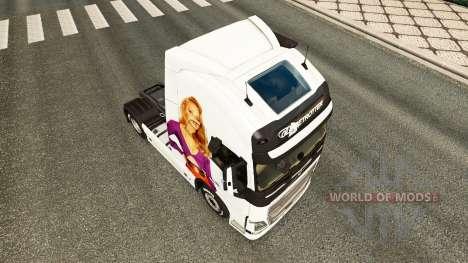 Jennifer Lawrence peau pour Volvo camion pour Euro Truck Simulator 2
