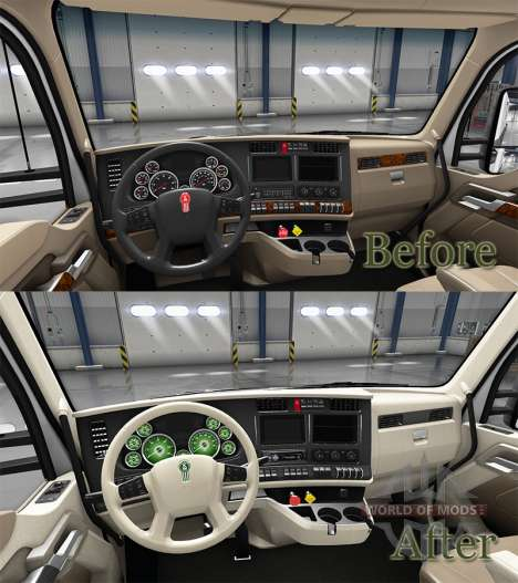 Innen Grünes Zifferblatt für Kenworth T680 für American Truck Simulator