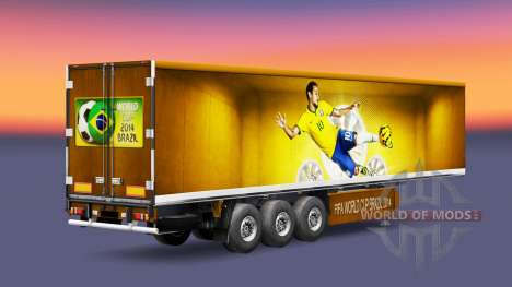 La peau Brésil 2014 pour les remorques pour Euro Truck Simulator 2