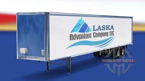 Haut Das Alaska Adventure Company auf den traile für American Truck Simulator