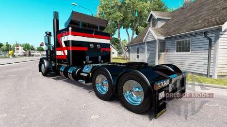 Schwarz Metallic skin für den truck-Peterbilt 38 für American Truck Simulator