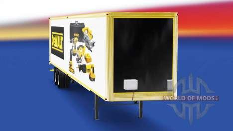 La peau DeWALT dans la remorque pour American Truck Simulator