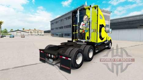 La peau Valentino Rossi sur un tracteur Kenworth pour American Truck Simulator