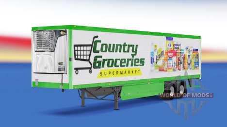 La peau des Pays de l'Épicerie sur la remorque pour American Truck Simulator
