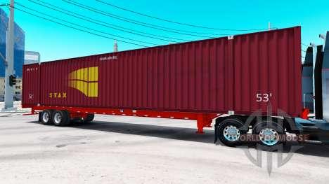 Auflieger container-STAX für American Truck Simulator