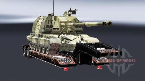 Semi transportant du matériel militaire v1.5 pour Euro Truck Simulator 2