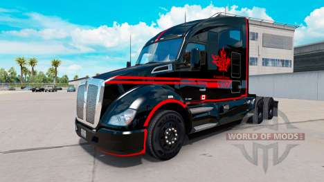 Haut-Canadian-Express-Schwarz-truck Kenworth für American Truck Simulator