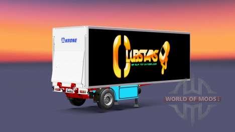 Auflieger Kühlschrank Krone Crown Club Sterne für Euro Truck Simulator 2