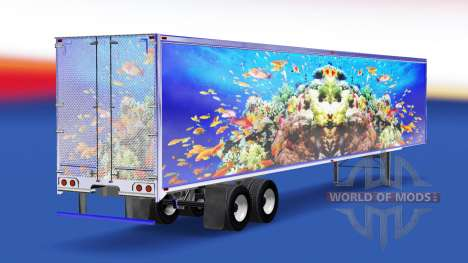 La peau du Poisson sur la remorque pour American Truck Simulator
