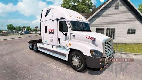 Скин P. A. M. Transport2 на Freightliner Cascadi pour American Truck Simulator