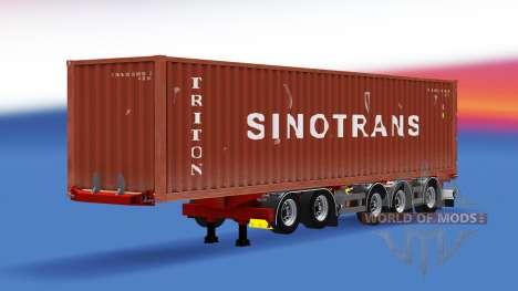 Container-Auflieger D-tec für American Truck Simulator