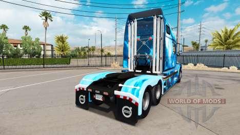 Feuer skin für den Volvo truck VNL 670 für American Truck Simulator