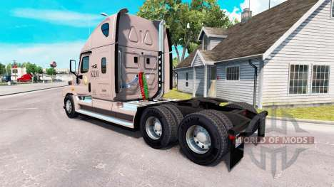 Скин KLLM Transport на Freightliner Cascadia für American Truck Simulator