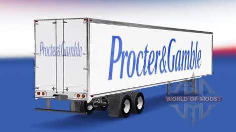 La peau Procter & Gamble remorque pour American Truck Simulator