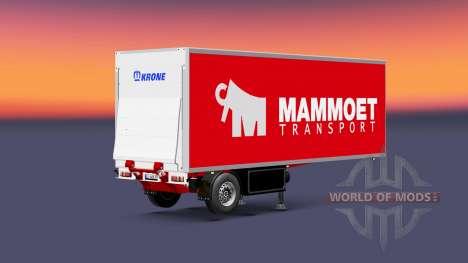Semitrailer refrigerator Krone Mammoet für Euro Truck Simulator 2